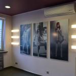 Półki podświetlane z plexi